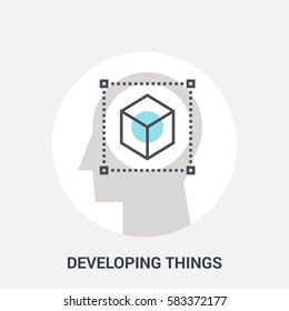 Abstract vector illustration of developing things icon concept