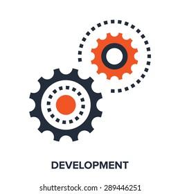 Abstract vector illustration of development flat design concept.