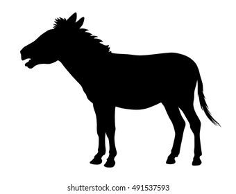Abstract vector illustration of a donkey silhouette