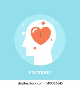 Abstract vector illustration of emotions icon concept emotions icon concept