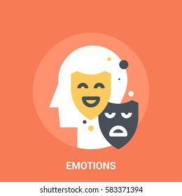 Abstract vector illustration of emotions icon concept