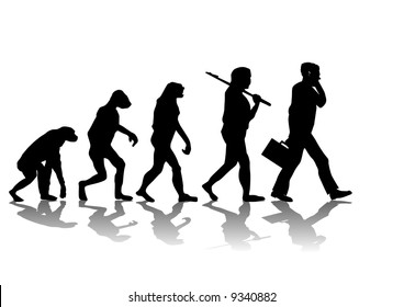 Abstract vector illustration of evolution
