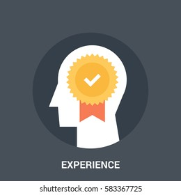 Abstract vector illustration of experience icon concept