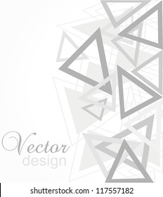 Abstract vector illustration of flayer design, eps10