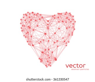 Abstract vector illustration of heart on white background