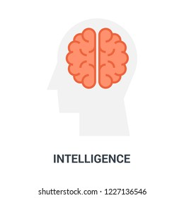 Abstract vector illustration of intelligence icon concept