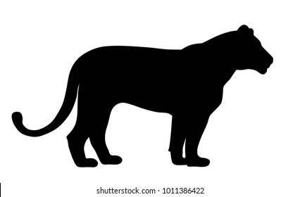 Abstract vector illustration of a lioness silhouette