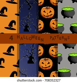Abstract vector illustration of logo for celebrating children's holiday Halloween, Spider. Pumpkin pattern of spider, bat on party halloween, yellow pumpkin. Smile pumpkins, spiders halloweens, skull.