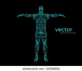 Abstract vector illustration of  man.