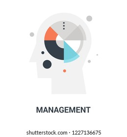 Abstract vector illustration of management icon concept