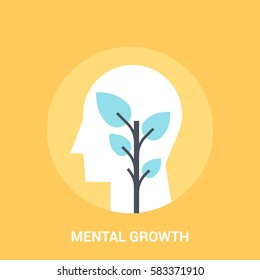 Abstract vector illustration of mental growth icon concept