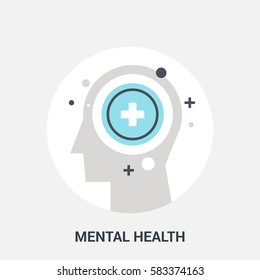 Abstract vector illustration of mental health icon concept