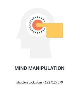 Abstract vector illustration of mind manipulation icon concept