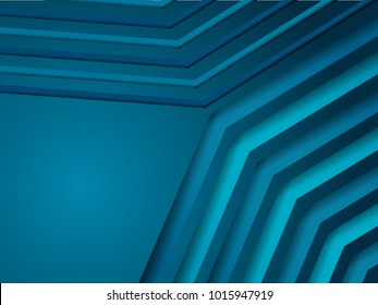 abstract vector illustration modern blue line design for background