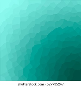Abstract Vector Illustration with Mosaic and Gradient Background. Bright Green Creative Pattern for Design.