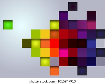 abstract vector illustration multi color box for background