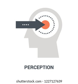 Abstract vector illustration of perception icon concept