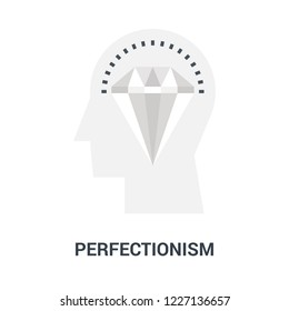 Abstract vector illustration of perfectionism icon concept