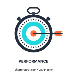 Abstract vector illustration of performance flat design concept.