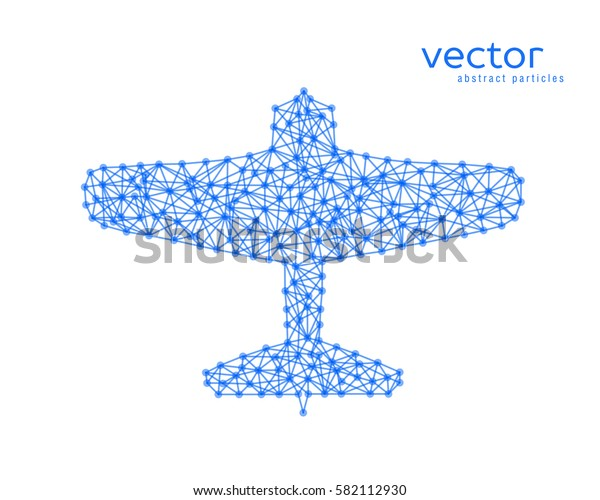 Abstract vector illustration of plane on white background.