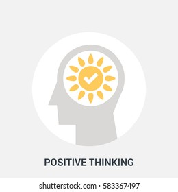 Abstract vector illustration of positive thinking icon concept