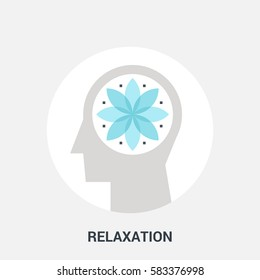 Abstract vector illustration of relaxation icon concept