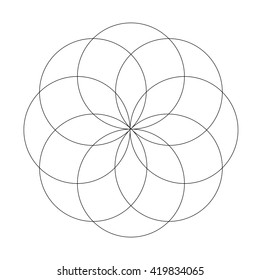 Abstract vector illustration. Sacred geometry.