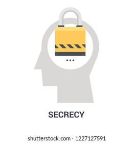 Abstract vector illustration of secrecy icon concept