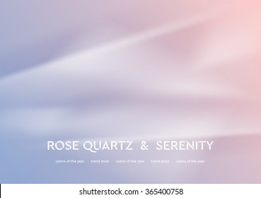 Abstract vector illustration with smooth waves. Trend colors of the year 2016 rose quartz and serenity. Modern curves background