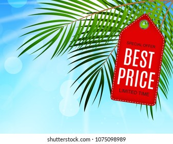 Abstract Vector Illustration Summer Sale Background. EPS10