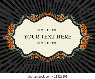 abstract vector illustration text frame