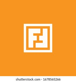 Abstract vector illustration of two letters F