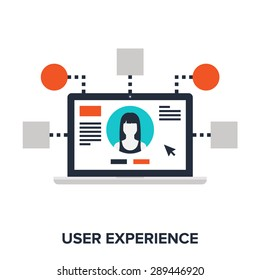 Abstract vector illustration of user experience flat design concept.