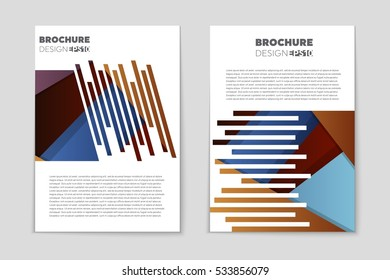 web design portfolio template book pages stock vector royalty free