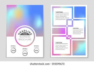Mockup Plaquette Stock Vectors Images Vector Art