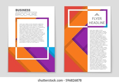 book cover design vector template a 4 stock vector royalty free