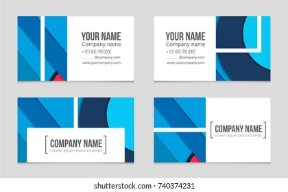 Abstract professional business card template visiting stock vector abstract vector layout background set for art template design list front page flashek Images