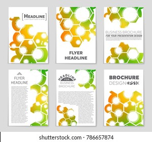 Abstract vector layout background set. For art template design, list, front page, mockup brochure theme style, banner, idea, cover, booklet, print, flyer, book, blank, card, ad, sign, sheet, a4.