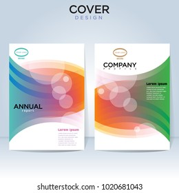 Abstract vector layout for front page, brochure and cover.