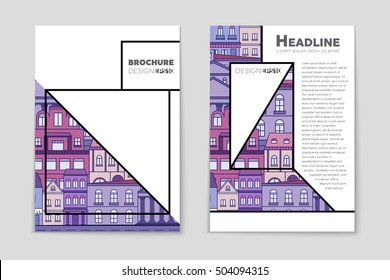 Abstract vector layout house background set. For art template design, list, page, mockup brochure theme style, banner, idea, cover, booklet, print, flyer, book, blank, card, ad, sign, sheet, flyer, a4