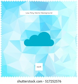 Abstract vector light blue polygonal background. The vector for ui, web games, tablets, wallpapers, and patterns.