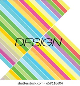 abstract vector line color