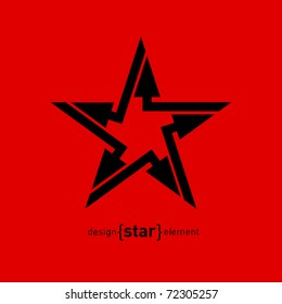 Abstract vector logo design element star with arrows