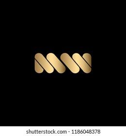Abstract Vector Logo Design Template. Creative Letter MW Concept Icon