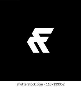 Abstract Vector Logo Design Template. Creative technology FF RF FR F Concept