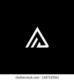 Abstract Vector Logo Design Template. Creative technology AA AF FA Concept