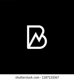 Abstract Vector Logo Design Template. Creative technology B BN NB Concept