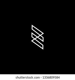 Abstract Vector Logo Design Template. Creative initial 3d ZE EZ Concept Icon.