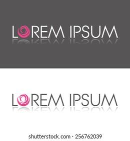 Abstract Vector Logo Design Template. Creative Pink White Gray Concept Icon