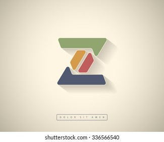 Abstract Vector Logo Design Template. Creative Color Concept Icon. Letter Z Stylization